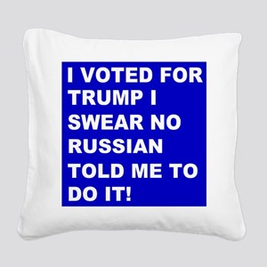 Trump I Swear Square Canvas Pillow