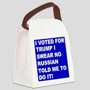 Trump I Swear Canvas Lunch Bag