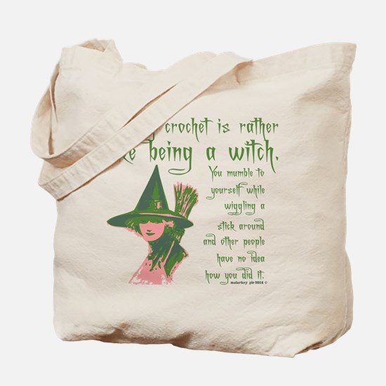 Crafty Crochet Witch Tote Bag