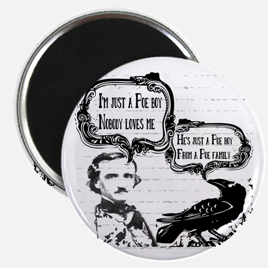Funny Edgar Allan Poe Boy Raven Magnets