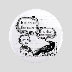 Funny Edgar Allan Poe Boy Raven Button