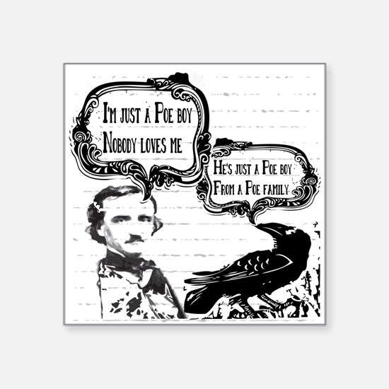Funny Edgar Allan Poe Boy Raven Sticker