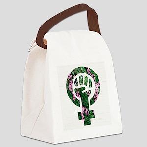 Feminist Symbol Earth Canvas Lunch Bag