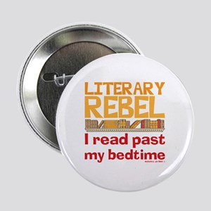 "Funny Literary Rebel Reading 2.25"" Button"