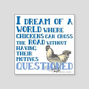 Chicken Cross Road Sticker
