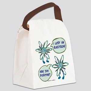 Electron Positive Pun Canvas Lunch Bag