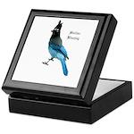 Stellar Blue Jay Keepsake Box