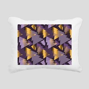 purple christmas trees Rectangular Canvas Pillow