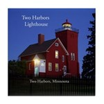 Two Harbors Lighthouse Tile Coaster