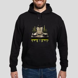 Cool Cat DJing and Scratching Sweatshirt