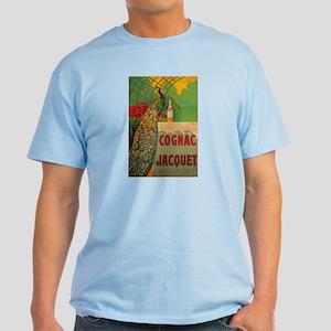Vintage Cognac Wine Poster Light T-Shirt
