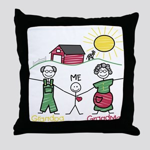 Grandparents and Me Throw Pillow