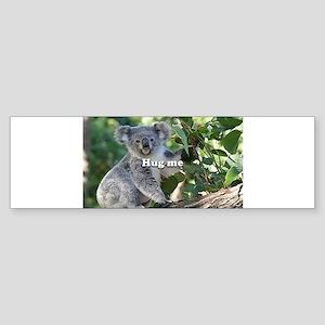 Hug me: cute Australian koala Bumper Sticker