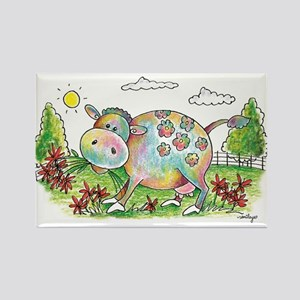 Colorful Cow Smileys Magnets