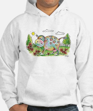 Colorful Cow Smileys Sweatshirt