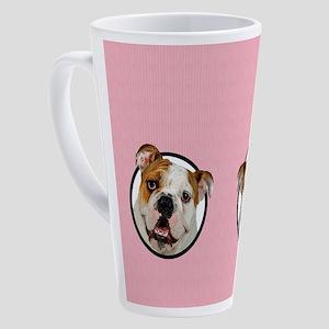 Bulldog Mom 17 oz Latte Mug