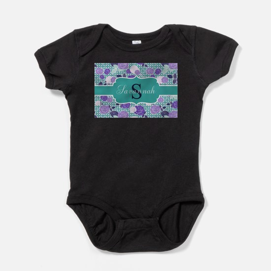 Teal and Purple Monogram Body Suit
