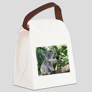 Hug me: cute Australian koala Canvas Lunch Bag