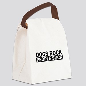Dogs Rock People Suck Funny Canvas Lunch Bag