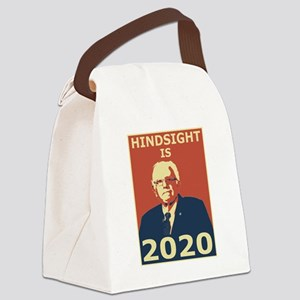 bernie sanders hindsight is 2020 Canvas Lunch Bag