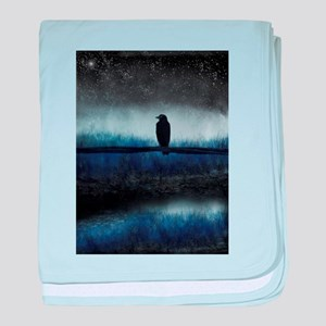 Blue Night Crow baby blanket