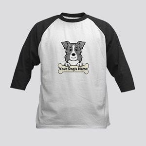 Personalized Border Collie Kids Baseball Jersey