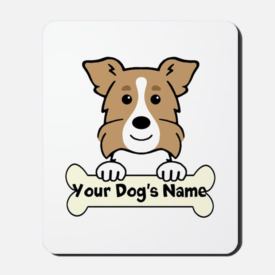Personalized Border Collie Mousepad