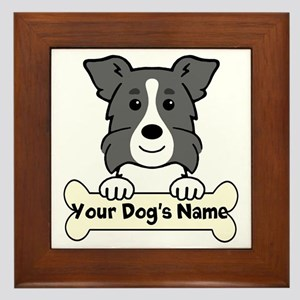 Personalized Border Collie Framed Tile