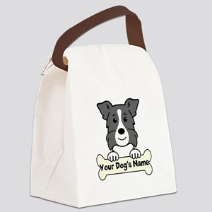 Personalized Border Collie Canvas Lunch Bag
