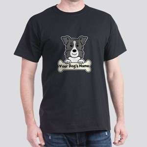 Personalized Border Collie Dark T-Shirt