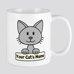 Personalized Gray Cat Mug