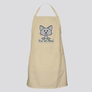 Personalized Gray Cat Apron