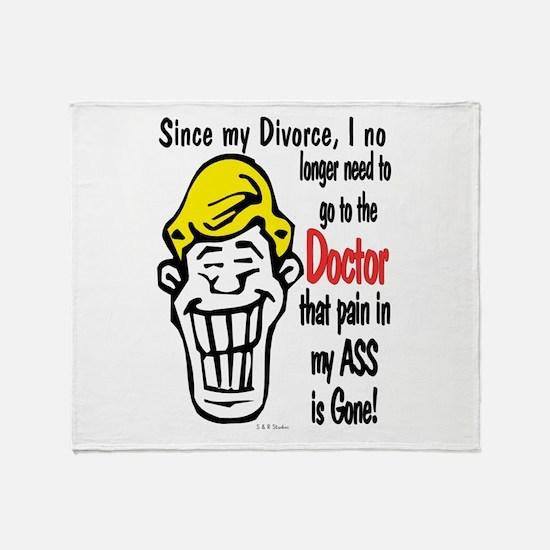 Since My Divorce Throw Blanket