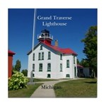 Grand Traverse Lighthouse Tile Coaster