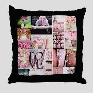 Love of Pink Throw Pillow