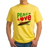 Peace Love Canoe Yellow T-Shirt