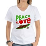 Peace Love Canoe Women's V-Neck T-Shirt