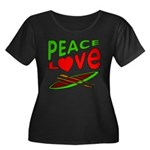 Peace Love Canoe Women's Plus Size Scoop Neck Dark