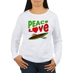 Peace Love Canoe Women's Long Sleeve T-Shirt