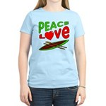 Peace Love Canoe Women's Light T-Shirt
