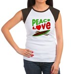 Peace Love Canoe Women's Cap Sleeve T-Shirt