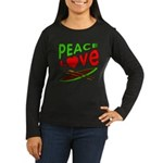 Peace Love Canoe Women's Long Sleeve Dark T-Shirt