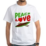 Peace Love Canoe White T-Shirt