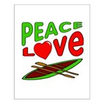 Peace Love Canoe Small Poster