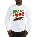 Peace Love Canoe Long Sleeve T-Shirt