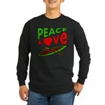 Peace Love Canoe Long Sleeve Dark T-Shirt