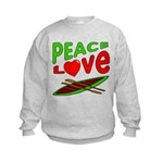 Peace Love Canoe Kids Sweatshirt