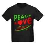 Peace Love Canoe Kids Dark T-Shirt