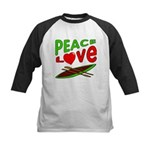 Peace Love Canoe Kids Baseball Jersey