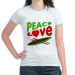 Peace Love Canoe Jr. Ringer T-Shirt
